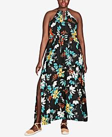 City Chic Trendy Plus Size Halter Maxi Dress