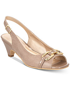 Karen Scott Arlena Slingback Peep-Toe Pumps, Created for Macy's