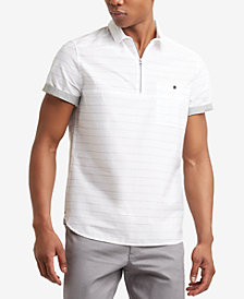 Kenneth Cole New York Men's Striped Popover Shirt