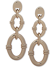 Lauren Ralph Lauren Gold-Tone Double Link Drop Earrings