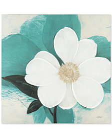 Madison Park Midday Bloom Teal Hand-Embellished Canvas Print