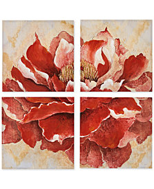 Madison Park Romanza 4-Pc. Hand-Embellished Canvas Print Set