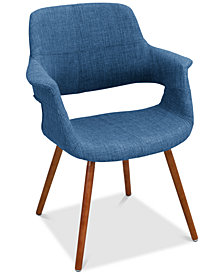 Vintage Style Accent Chair, Quick Ship