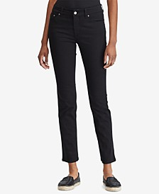 Petite Mid-Rise Straight Jeans