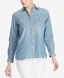 Lauren Ralph Lauren Cotton Button-Down Shirt