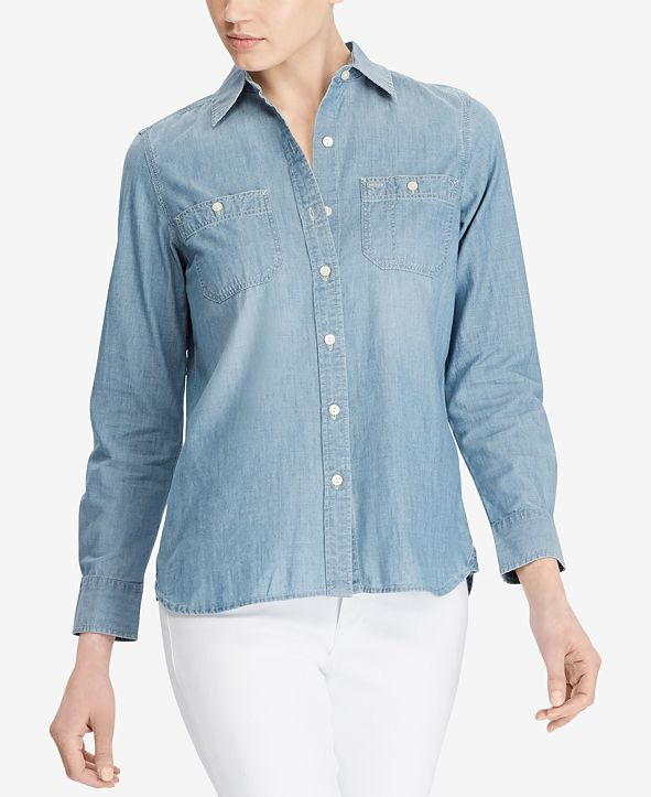 Lauren Ralph Lauren Cotton Button-Down Shirt