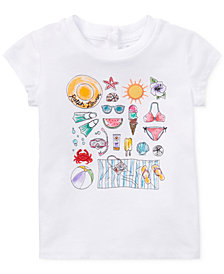 Polo Ralph Lauren Graphic Cotton T-Shirt, Baby Girls