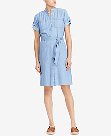 Lauren Ralph Lauren Denim Cotton Shirtdress