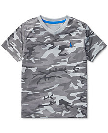 Polo Ralph Lauren Camouflage V-Neck T-Shirt, Little Boys