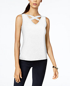 Nine West Cross-Front Top
