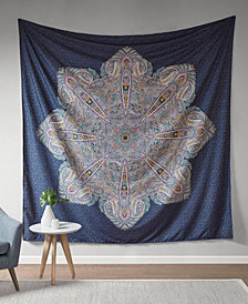 "Intelligent Design Genny 90"" Square Printed Wall Tapestry"