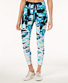 Calvin Klein Performance Collage-Print Ankle Leggings