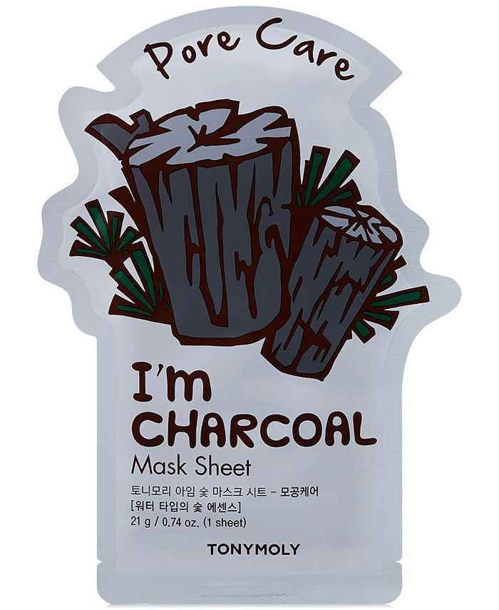 TONYMOLY - I'm Real Sheet Mask - Charcoal (Pore Care)