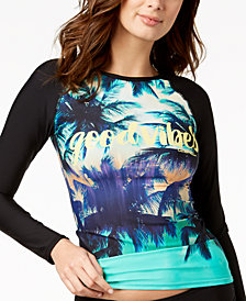 Calvin Klein Printed Long-Sleeve Rash Guard
