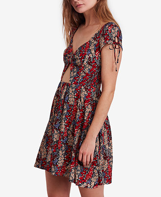 Miss Right Cutout Skater Dress by Free People