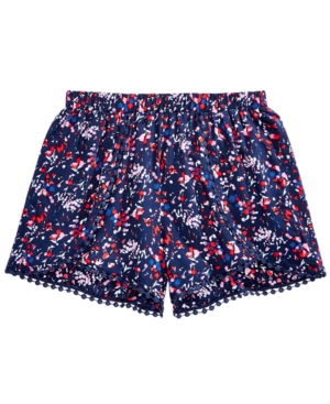 Epic Threads FloralPrint Pom PomTrim Shorts Big Girls Created for Macys