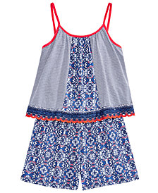 Epic Threads Popover Romper, Big Girls, Created for Macy's