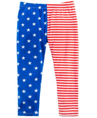 American Flag Printed Capri Leggings, Big Girls, Created for Macy's