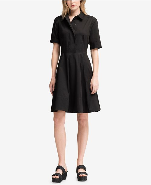 DKNY Elbow-Sleeve Shirtdress, Created for Macy's