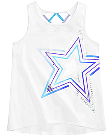 Ideology Graphic-Print Strappy-Back Tank, Big Girls, Created for Macy's