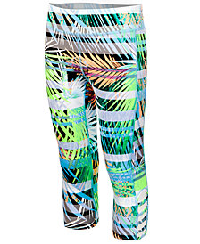 Ideology Printed Caged-Hem Capri Leggings, Little Girls, Created for Macy's