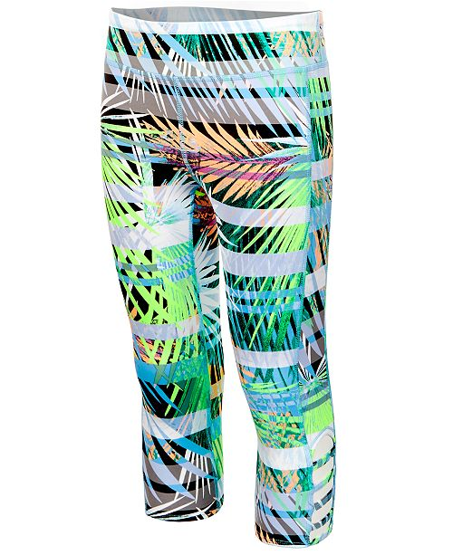 dc94b83a5014b3 Ideology Printed Caged-Hem Capri Leggings, Big Girls, Created for Macy's