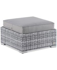 Elle Decor Vallauris Outdoor Ottoman, Quick Ship