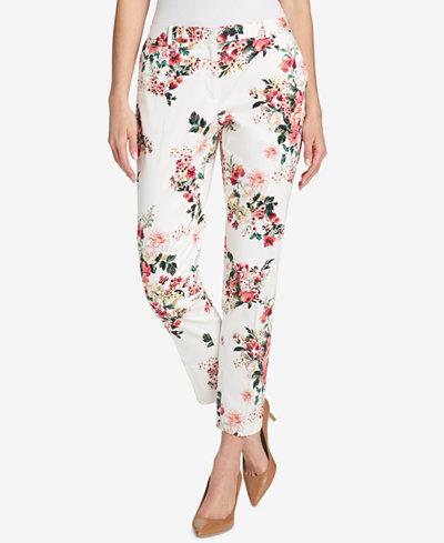 Tommy Hilfiger Floral-Print Ankle Pants
