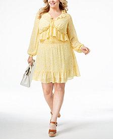 MICHAEL Michael Kors Plus Size Ruffled Dress