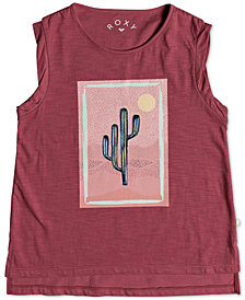 Roxy Sleeveless Cotton T-Shirt, Big Girls