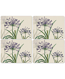 Pimpernel Agapanthus Set of 4 Placemats