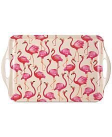 Pimpernel Flamingo Large Melamine Handled Tray
