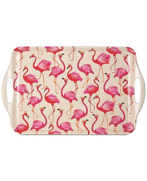 Portmeirion Pimpernel Flamingo Large Melamine Handled Tray