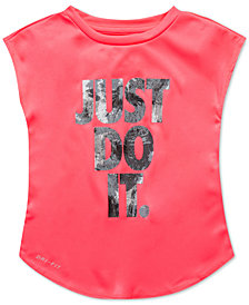 Nike Just Do It-Print T-Shirt, Little Girls