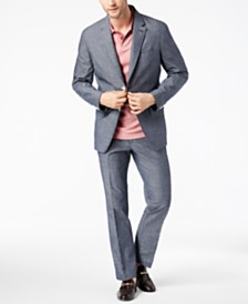 Tasso Elba Men's Classic-Fit Chambray Suit Separates, Created for Macy's