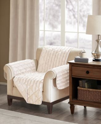 Madison Park Duke Reversible Diamond-Quilted Faux-Fur Loveseat Protector