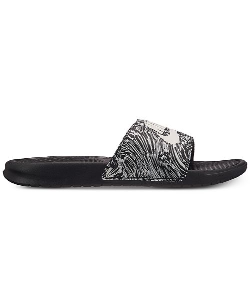 ad8cfd52f1a7c Nike Men s Benassi JDI Print Slide Sandals from Finish Line ...