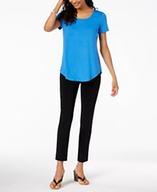 JM Collection Scoop-Neck Top & Embellished Pull-On Pants, Created for Macy's