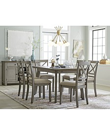 Fairhaven Dining 7-Pc. Set (Table & 6 Upholstered Side Chairs), Created for Macy's