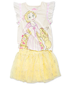 Disney's® 2-Pc. Tangled T-Shirt & Skirt Set, Little Girls