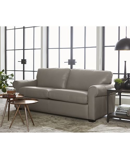 Orid 2 Pc L Shaped Leather Sectional Sofa Created For Macy S