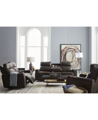 This Item Is Part Of The Oaklyn Leather Sofa Collection With Power  Recliners, Power Headrests And USB Power Outlet