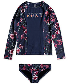 Roxy Desert Darling 2-Pc. Rash Guard Swim Set, Big Girls