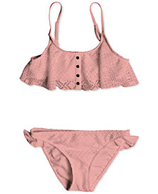 Roxy 2-Pc. Lace Bikini Swimsuit, Big Girls