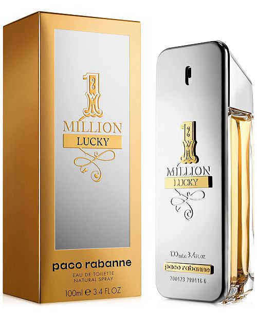 Paco Rabanne Mens 1 Million Lucky Eau De Toilette Spray 34 Oz