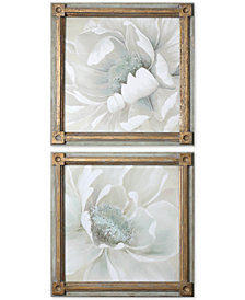 Uttermost Winter Blooms 2-Pc. Floral Wall Art Set