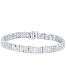 Diamond Link Bracelet (5 ct. t.w.) in 14k White Gold