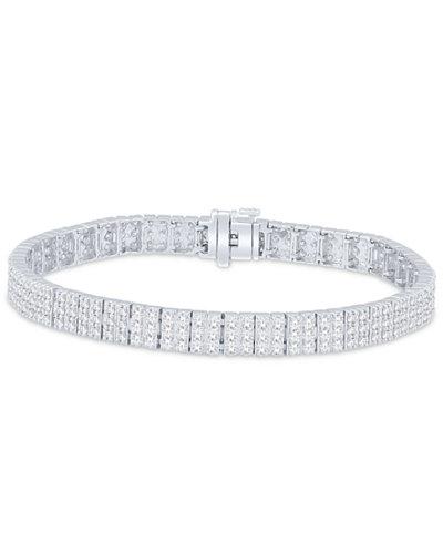 Diamond Link Bracelet (5 ct. t.w.) in 14k White Gold