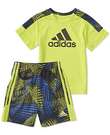adidas Baby Boys 2-Pc. Amplified Net T-Shirt & Shorts Set