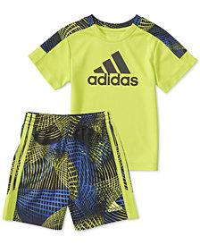 adidas Baby Boys 2-Pc. Amplified Net T-Shirt & Shorts Set